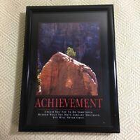 """Achievement Motivational Plaque Approximately 7 1/4"""" H 5"""" W 3/4""""D."""