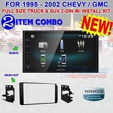 95 - 2002 GM FULL SIZE TRUCK & SUV DOUBLE DIN CAR STEREO BEZEL KENWOOD DMX125BT