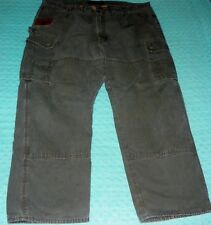 Riggs Workwear by Wrangler Gray Cargo Pants Dungarees Flannel Lined Size 45 X 29