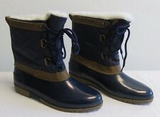 DuPont Thermolite Womens Size 7 Winter Boots - Navy Blue & Tan