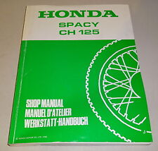 Manuel D'Atelier Honda Spacy Ch 125, Support 1988