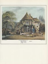 """1974 Vintage HUNTING """"SHOOTING"""" PLATE 1, GOING OUT w/ FLINTLOCKS Art Lithograph"""