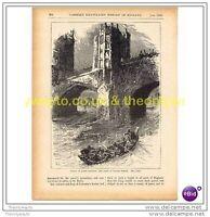 FLIGHT OF QUEEN ELEANOR, SCENE AT LONDON BRIDGE, c1909, Book Illustration