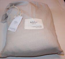 """New Rizzy Home Adeline Linen Duvet Bedding Cover KING Off White  106"""" x 92"""""""