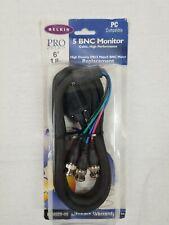 NIB Belkin PRO F3X029-06 6' 5 BNC Monitor Cable