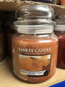 Yankee Candle Medium Jar Warm Desert Wind Retired Scent