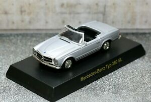 Kyosho 1/64 Mercedes-Benz Collection W113 SL-Class 280SL 1971 Roadster Silver