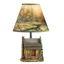 Woodland Log Cabin Lamp, by Collections Etc