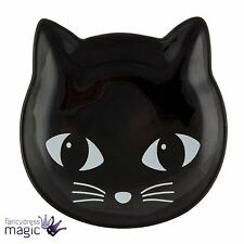 Sass & And Belle Ceramic Black Cat Trinket Jewellery Holder Ring Dish Home Gift
