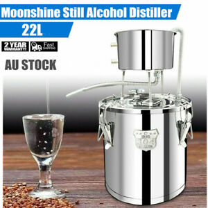 Alcohol Distiller Liquor Water Pure Dew Brewing Kit for Home Stainless Steel 22L