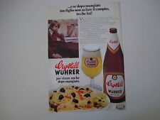 advertising Pubblicità 1976 BIRRA BEER CRYSTALL WUHRER