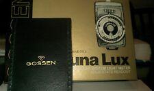 Gossen Luna-Lux SBC Exposure Meter with Case and Original Documents/Box