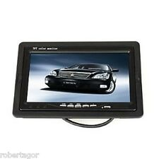 """MONITOR LCD TFT 7"""" COLORI AUTO CAMPER X POGGIATESTA TELECOMANDO CARICATORE 7001B"""
