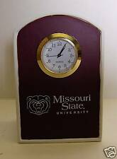 Missouri State University Wood Desk Clock NEW NICE STYLISH DECOR GREAT FAN GIFT