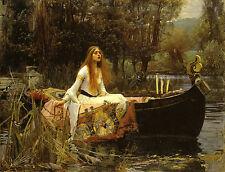 JOHN WILLIAM WATERHOUSE :: THE LADY OF SHALOTT :: 24 INCH CANVAS FINE ART PRINT
