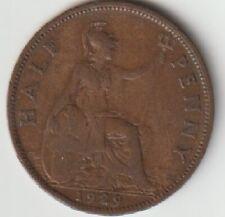 1929 Half Penny British UK King George V1 Age Amazing 92 years old KM#809 ......