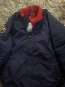 Men's Polo Ralph Lauren Fleece Sportsmen Respect Wildlife Jacket Navy size L