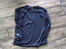 Canterbury Of New Zealand Rugby Long Sleeve Training Shirt XL Navy Blue USA