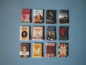 Dolls House miniatures accessories - CLASSIC BOOKS x 12 (set 2 of 2)