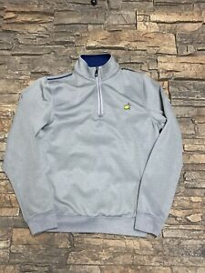 The Master YOUTH L/XL 1/4 Zip Polyester Sweater Gray Augusta Perfect!