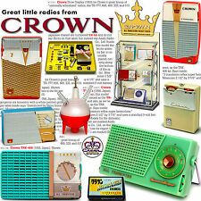 New listing Great Little Radios from Crown: transistor, tube & crystal too Full Color book