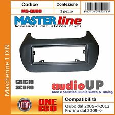 MASCHERINA AUTORADIO 1 DIN PER FIAT QUBO DAL 2009 AL 2012. COLORE GRIGIO SCURO