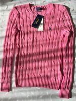 Polo  Ralph Lauren Women's Cable Pima Cotton Jumper (Size S)