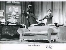 """JEAN LE POULAIN FRANCOISE DANELL """"INTERDIT AU PUBLIC"""" PHOTO DE PRESSE THEATRE EM"""