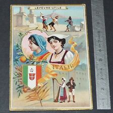 CHROMO LEFEVRE-UTILE LU NANTES 1887-1888 ITALIE ITALIA