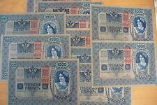 JOLI BILLET 1000 KRONEN AUTRICHE - HONGRIE 1902  TTB++ (achat unitaire)