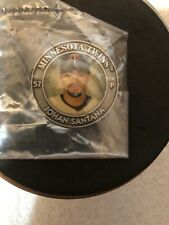 MLB Baseball Star Tribune Minnesota Twins Medallion Johan Santana