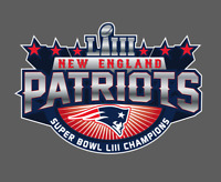 New England Patriots 2019 Super Bowl LIII 53 Champions Decal