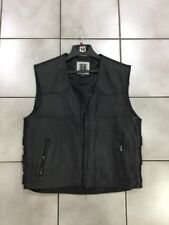 Men's Vest, River Road, Plains Leather vest Size 48