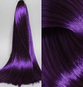AUBERGINE Dark Purple Saran Doll Hair for Custom Reroots