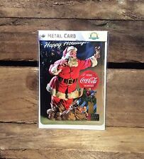 Coca Cola happy holidays Metal POSTCARD Vintage Retro Tin Signs Official Product