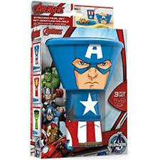 Marvel Heroes CAPTAIN AMERICA Stacking 3 Piece Meal Set - Plate, Bowl, Tumbler