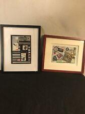 """Collages(2)""""Signed"""" Emma Lou Martin"""" Labeled/named C12pix4detail/size.MAKE OFFER"""