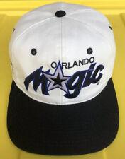 Vintage 90s Orlando Magic Sports Specialties Script Snapback Hat Cap NBA 2 Tone