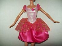 "Barbie Dark Pink Glittery Party Dress For Barbie & Friends 11.5"" Doll Clothes"