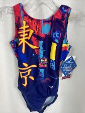Motionwear Gymnastics Tokyo Open Back Leotard Sz Int Child (6x-7) New