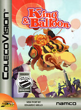 KING & BALLOON / Colecovision / ADAM Cartridge. CIB, SUPER GAME MODULE REQ'D