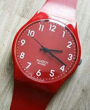"Maxi Swatch MGR154 "" CHERRY-BERRY "" 2011 Rare Collectable Wall Clock Pop Art"