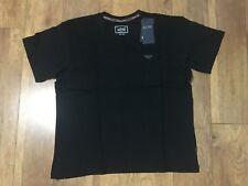 """NWT Armani Jeans Soft Cotton Crew Neck T-Shirt Black XL P2P 23.5"""" L28""""."""