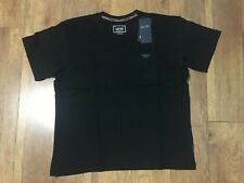 "NWT Armani Jeans Soft Cotton Crew Neck T-Shirt Black XXL P2P 24.5"" L28""."