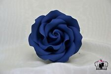 "deep blue  3""sugar paste flower, handmade, cake topper,birthday, wedding edible"