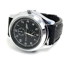 Mens Military Watch Cigarette Lighter with USB Rechargeable Quartz Wristwatch