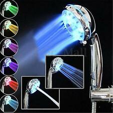 Adjustable 3 Mode 3 Color LED Shower Head Temperature Sensor RGB Bath Sprinkler