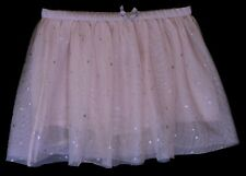 Baby Girls H&M Pink Mesh Silver Stars Layered Lined Tutu Skirt Age 18-24 Months
