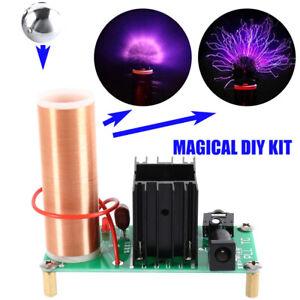 Elektronisch Mini 15W Tesla Spule Musik Lautsprecher Transformator Plasma Coil D