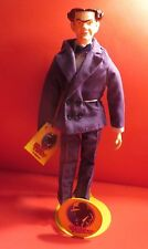 1990 DICK TRACY FLATTOP 10' INCH CHARACTER DOLL WITH ORIGINAL METAL STAND TAG